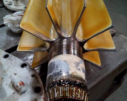Rotor voor draaisluis met kegellagers
