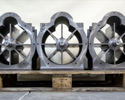 Voorbeeld van een open rotor in de stator zonder de flenzen