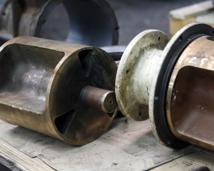 Een gesloten rotor voor een doorval draaisluis